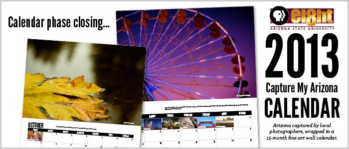 Capture My Arizona calendar